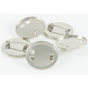 Standard Badge Blank round 25mm silver and clear dome